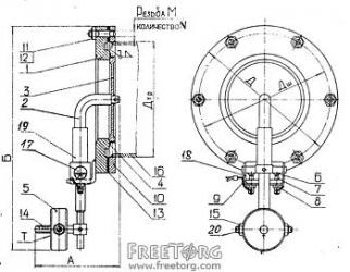 Клапан избыточного давления КИДМ-100, 150, 200, 300
