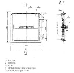 Ставни защитно-герметические СУ-I-1, СУ-III-2, СУ-IV-1