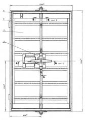 Дверь защитно-герметическая ДУ