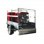 Мотопомпа пожарная МП-20 /100 «Гейзер» на легковом прицепе МЗСА, комплектация П